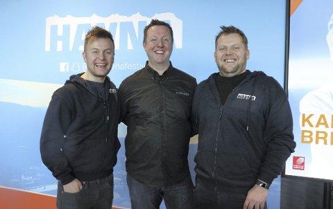 Arrangører: Raymond Værnes (t.v.), Morten Johansen og Harald Carlsen.