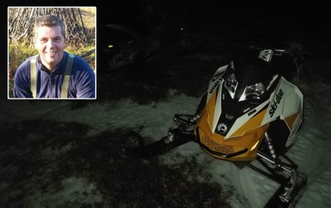 RYKKET UT: Lars Gunnar Andersen var blant dem som rykket ut med scooter lørdag.