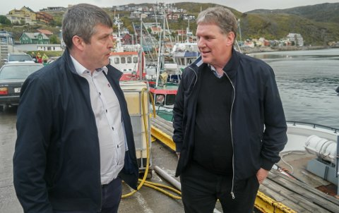 UENIGE: Bengt Rune Strifeldt (Frp) og Geir Adelsten Iversen (Sp) har ofte vært uenige om fiskeripolitikken, men den såkalte Ferskfiskordningen vil begge ha.