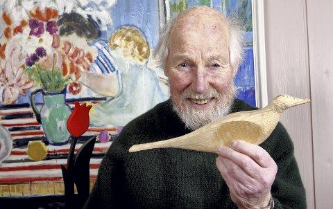 """BLE KALT """"RAR KATT"""": Arne Lindaas var en produktiv og mangefasettert kunstner, brukskunstner og designer. Foto: Mats Linder"""