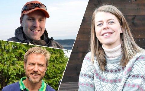 NYREGISTRERINGER: Ole Martin Gilbu (øverst) har startet enkeltpersonforetaket Fiskejegeren, Kjetil Valldal står bak selskapet Eidkilen AS og Line Laagasken har startet enkeltpersonforetaket Laagasken.