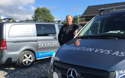 LIV LAGA: Jan Egil Andersen Skarvatun starta opp Skarvatun VVS for fem år sidan, og driv i dag ei solid og vellukka bedrift. Halvparten av aksjeselskapa er borte fem år etter stiftingsdato.