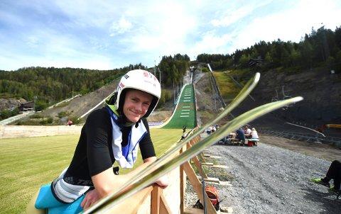 VANT: Sindre Trier Aslesen vant et norgescuprenn i hopp i Granåsen. FOTO: OLE JOHN HOSTVEDT