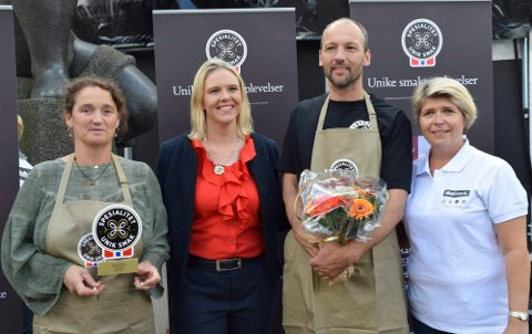 Marielle De Roos (Lofoten Gårdsysteri), Sylvi Listhaug, Hugo Vink (Lofoten Gårdsysteri), Nina Sundqvist (Matmerk)