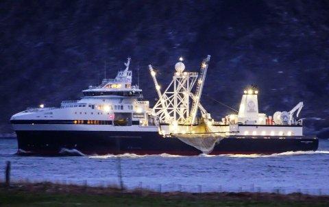 """MILLIARDBÅT: """"Antarctic Endurance"""" kostet 1,1 milliard, og er registrert i Vestvågøy."""