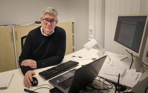 UNDERSØKELSE: Pål Enghaug, ansvarlig redaktør i Moss Avis, håper flest mulig vil delta i spørreundersøkelsen om #metoo.