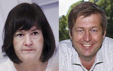Finn-Erik Blakstad (varaordfører i Rygge, V) og Inger-Lise Skartlien (ordfører i Rygge, Ap)