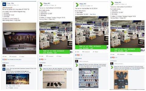 Slik ser de falske Facebookannonsene ut. Ofte litt for gode til å være sanne.