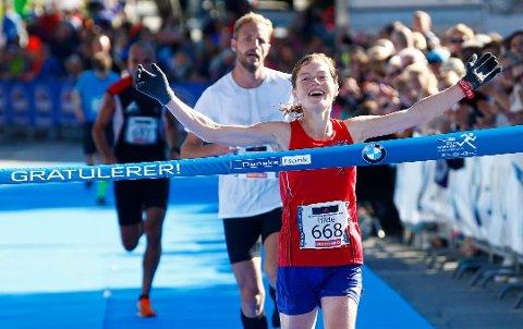 Her jubler Hilde Aders for seieren i Oslo i 2015. I år ble det ny seier. oto: Heiko Junge / NTB scanpix Foto: Junge, Heiko