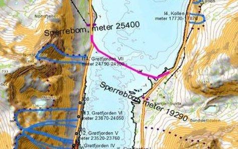 MULIG BRULØSNING: Her vurderer Statens vegvesen å legge en bru over Grøtfjorden, hvis Troms fylkeskommune går for en slik løsning. Illustrasjon: Statens vegvesen