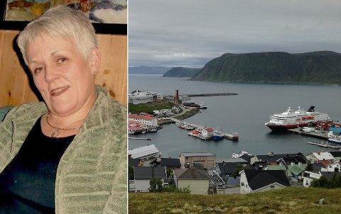 STAKK FRA REGNING: Marie Madelein Larsen (innfelt) - eller Steen som hun nå kaller seg - har besøkt både Troms og Finnmark de siste to ukene.