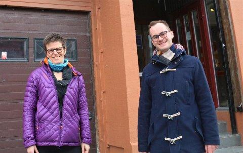 NY STILLING: UNN har utlyst ny stilling som sykehushumanist. På bildet: Ingun Fossland, avdelingsleder for preste- og samtaletjenesten på UNN, og organisasjonsrådgiver iHuman-Etisk Forbund (HEF),Jonas Nilsen.