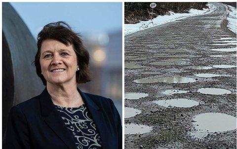 VEI: Fylkesråd fr samferdesel, Kristina Hansen mener fylkeskommunen har nok problemer å ta av.