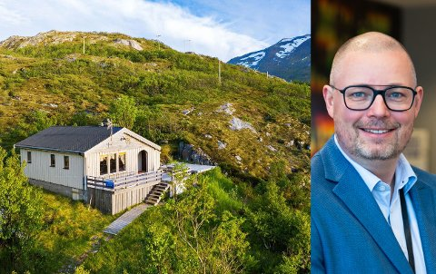 EN MILLION OVER TAKST: Denne hytta i Hekking-Baltsfjord ble solgt for nesten 1,8 millioner kroner mandag. Takst var 800.000 kroner. Tom Sivertsen var megler.