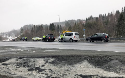 UP avholdt fartskontroll på Raufoss onsdag. Det ble dyrt for mange.