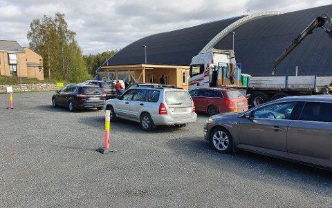 TESTES: Teststasjonen i Gjøvik er åpen lørdag og søndag etter smitteutbrudd.