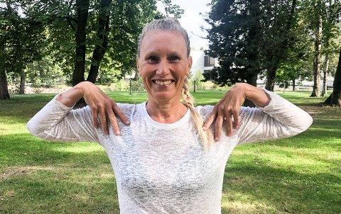 BLID OG ENERGISK: Yoga har hjulpet Kristin Haugen på mange måter i voksenlivet.