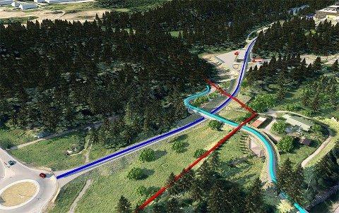 SKILØYPA LAGT OM: en ny anleggsvei skal etableres fra Taraldrudkrysset, og skiløypa må legges om.