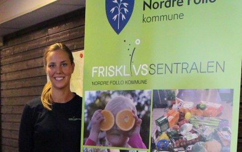 MAT SOM MEDISIN: Iselin Schjelle Holen ved Frisklivssentralen i Nordre Follo kommune vil gi gode råd om mat og helse.