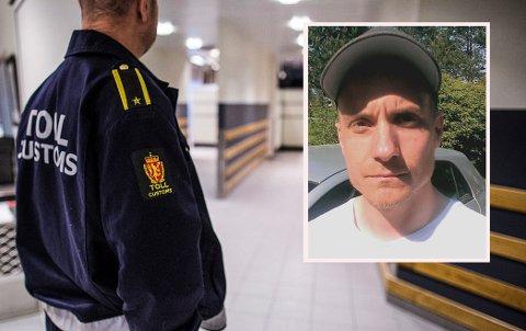 Lars Grenaker, innfeldt, ble utsatt for en uvanlig episode fra Tollvesenet i Larvik