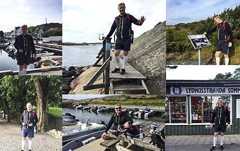 Langtur: Jarle Kogstad fra Oslo har gått Kyststien i Brunlanes 25 ganger og kan ikke få fullrost området og folkene som holder stien i orden. – Uten tvil Norges flotteste tur, sier Kogstad.
