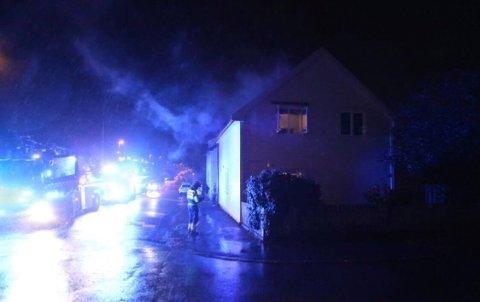 SLUKKET: Brannvesenet fikk raskt kontroll over brannen.