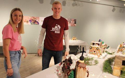 Thea Ditlefsen og Haakon Aaltvedt Pettersen som er frivillige i Rocket-Man drevet av Eidanger Idrettslag. – Det er rørende at så mange vil støtte opp om Rocket-Man-prosjektet. Vi er unge som vil hjelpe andre unge, sier Haakon og Thea.