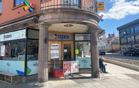 STENGT: C-in kiosk & isbar i Porsgrunn sentrum.