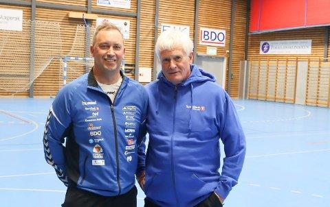 TRENERE: Rune Evensen og Terje Andersen.