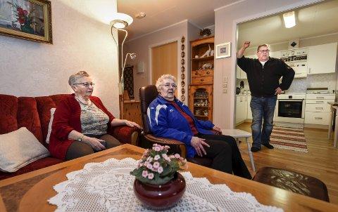 Passer på hverandre: Ragnhild Johansen, Judith Ødegård og Åge Kristiansen.