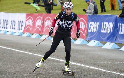TRIVES: Marthe Kråkstad Johansen, B&Y IL, har trent mest på Lillehammer foran denne sesongen. Her får hun måle krefter med de øvrige på rekruttlandslaget nesten hver dag. Foto: Trond Isaksen