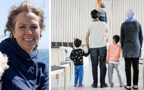 FORBEREDT: Saken til den afghanske familien som bor i Hønefoss kirke skal behandles i Borgarting lagmannsrett i fem dager. Kristin Moen Saxegaard følger familien tett.