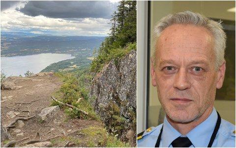 TRAGISK ULYKKE: Bent Engebret Øye, etterforskningsleder i Hønefoss-politiet, forteller om status i saken hvor en ung mann omkom etter en tragisk ulykke i Mørkgonga.
