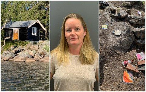 TRIST SYN: Torbjørg Faafeng og familien tilbragte flere dager på hytta i sommer. I forrige uke fikk de melding om at uvedkommende hadde tatt seg inn i hytta.