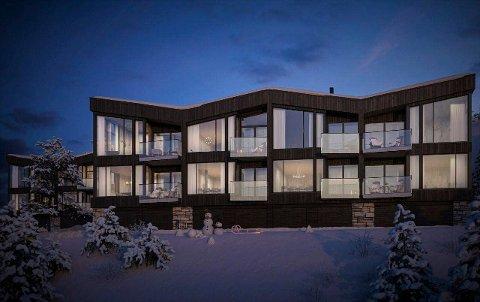 LANSERES I VINTERFERIEN: - Bygningene ligger luftig og høyt. Vestvendt balkonger. Leilighetene har store utsiktsvinduer mot Gaustatoppen, Rjukan og Hardangervidda, forteller prosjektmegler Christopher Lejonberg, som har salgsansvaret for Kollen.