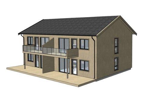 LEILIGHETER: Slik ert det planlagte leilighetsbygget på Frognerstrand Camping.  (Ill.: Arconsult Ove Bøe AS)