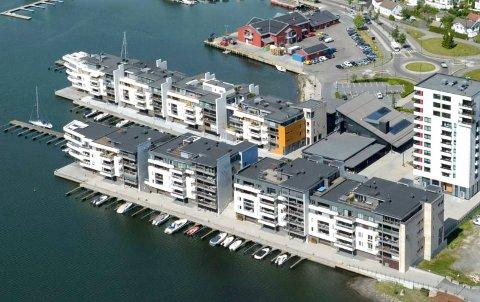 KILEN: Trenden med å kjøpe leilighet for fritidsbruk startet i Pir 2 (nærmest) på Kilen Brygge. Da var det én av ti. På Nye Kilen Brygge selges hver femte leilighet for hytteformål.