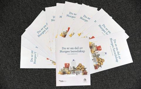 På tampen av fjoråret fikk norske husstander tilsendt denne brosjyren fra Direktoratet for samfunnssikkerhet og beredskap (DSB). I dette innlegget utdyper direktør Cecilie Daae om bakgrunnen for brosjyren og egenberedskapsrådene. (Foto: DSB)