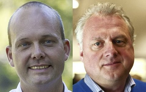 Sindre Martinsen-Evje (ordfører i Sarpsborg kommune) og Jan Geir Solheim (ordfører i Lærdal kommune).