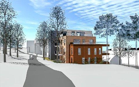 FEMTE BLOKKA: Bystyret vedtok torsdag reguleringsplanen for den femte blokka i Kulås terrasse.