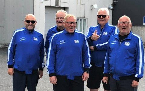 Lang tur: Jan Hexeberg, Raymond Michalsen (sjefen for riktig mat og drikke) Per Øivind Myhrene, Ingard Langsholdt og Pål Antonsen.
