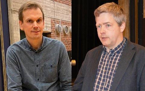 Både ordfører Theodor Bye (til venstre) og Thor Amund Halvorsrud, begge Senterpartiet, presiserer at de har et godt samarbeidsforhold. ARKIV