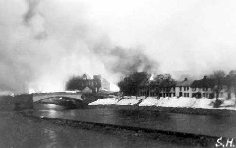 Røyken sto fra Steinkjer 21.april 1940