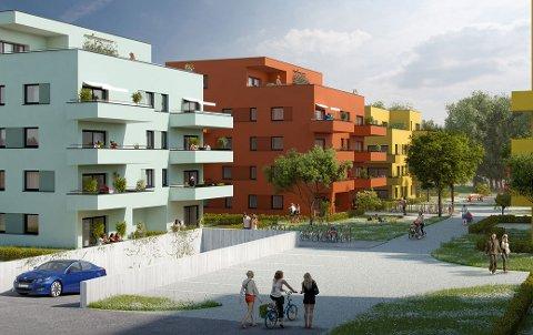 STOPPER SALGET: Skien boligbyggerlag har trukket Lekeland Park fra markedet. Nå skal fremtiden til prosjektet vurderes. Foto: Skien boligbyggerlag
