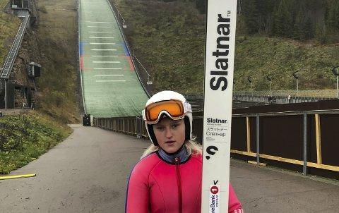 NM: Heidi Dyhre Traaserud er blant hopperne det skal satses på fram mot OL i 2022. Denne uka har hun vært på sin første samling.