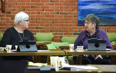 BEKYMRET: Grethe Trovi Duesund (uavhengig) og Else Solberg Aasen (SV) er ikke enige om alt politisk, men bekymringen for kommunens økonomiske situasjon deler de.