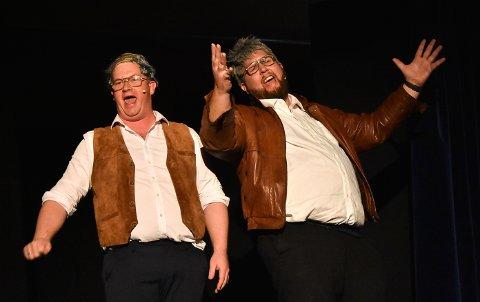 """SHOWGLEDE: """"De er imitert - Global parodi"""" med Ruben Kvålseth og Tor Olav Aase Kåsa hadde premiere onsdag kveld. Publikum gikk strålende fornøyd hjem seint på kvelden."""
