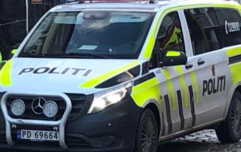 En lastebil kjørte videre etter et sammenstøt med en personbil på E18 ved Songe tirsdag.