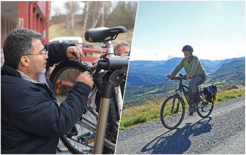 """EI HJELPANDE HAND: Om sykkelen din treng ein """"ansiktslyftning"""", kan du få hjelp til å få den vårklar ved Vangstunet 21. mai."""