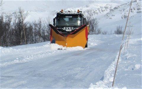 Ut på anbud: Vintervedlikeholdet i Sør-Aurdal for de neste fire åra ligger nå ute på anbud.